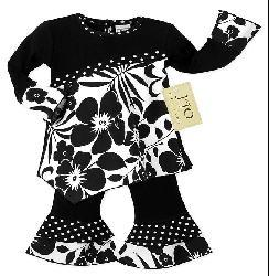 Sweet Jojo Designs Baby Girl's 2-piece Floral Polka Dot Outfit - Thumbnail 1