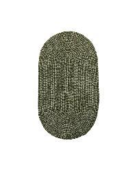 Yorktown Moss Braided Tweed Rug (3'6 x 5'6 Oval) - Thumbnail 2