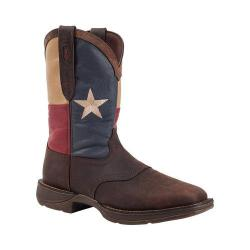 Men's Durango Boot DB021 11in Flag Pull-On Dark Brown/Texas Flag
