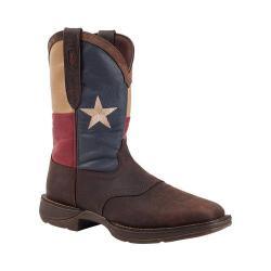 Men's Durango Boot DB021 11in Flag Pull-On Dark Brown/Texas Flag