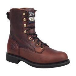 Men S Georgia Boot Gb00048 8in Logger Brown Leather