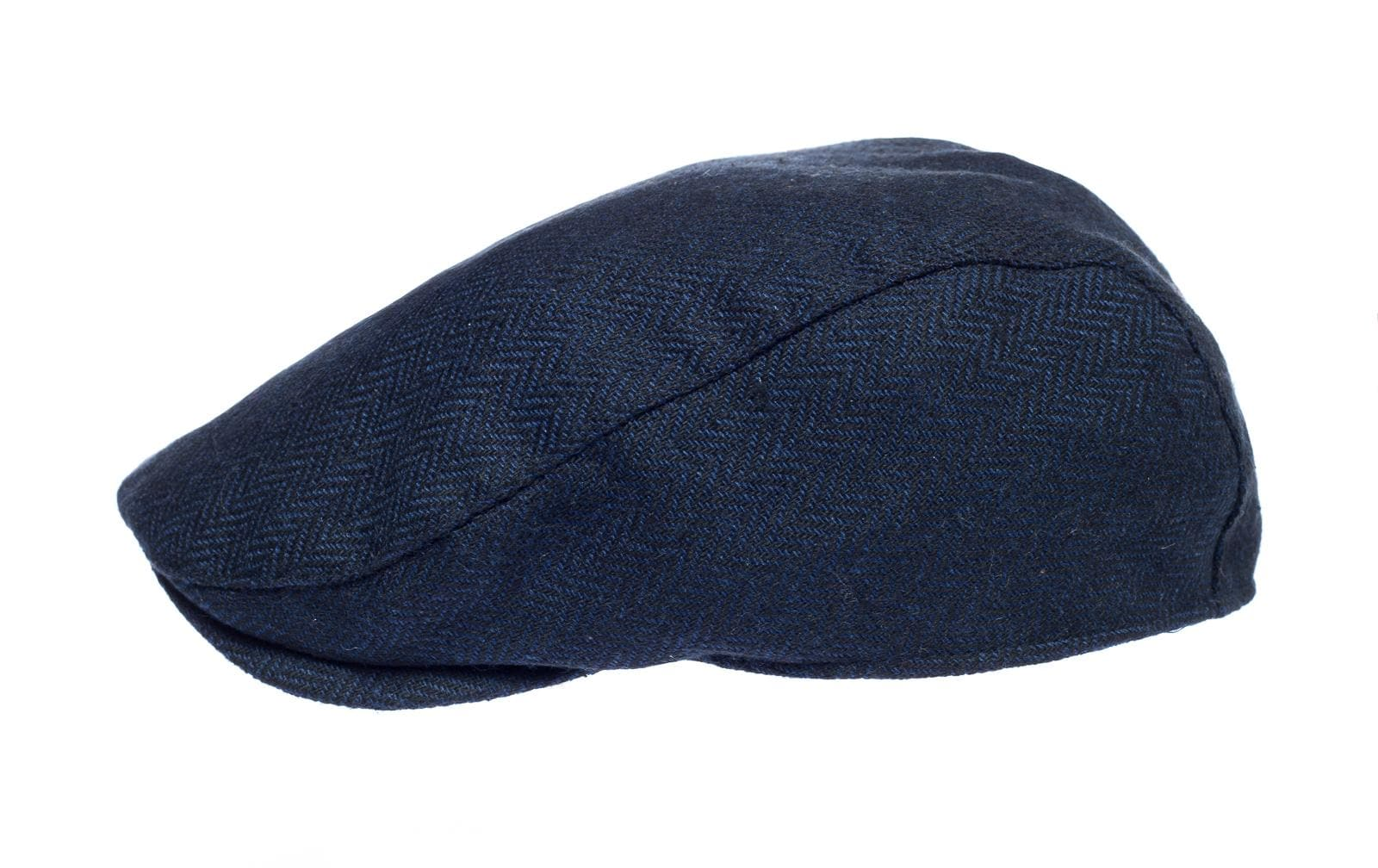 Newsboy Wool Blend Cap Paperboy Men Boy Gatsby Hipster Ivy Hat, Herringbone Navy Blue