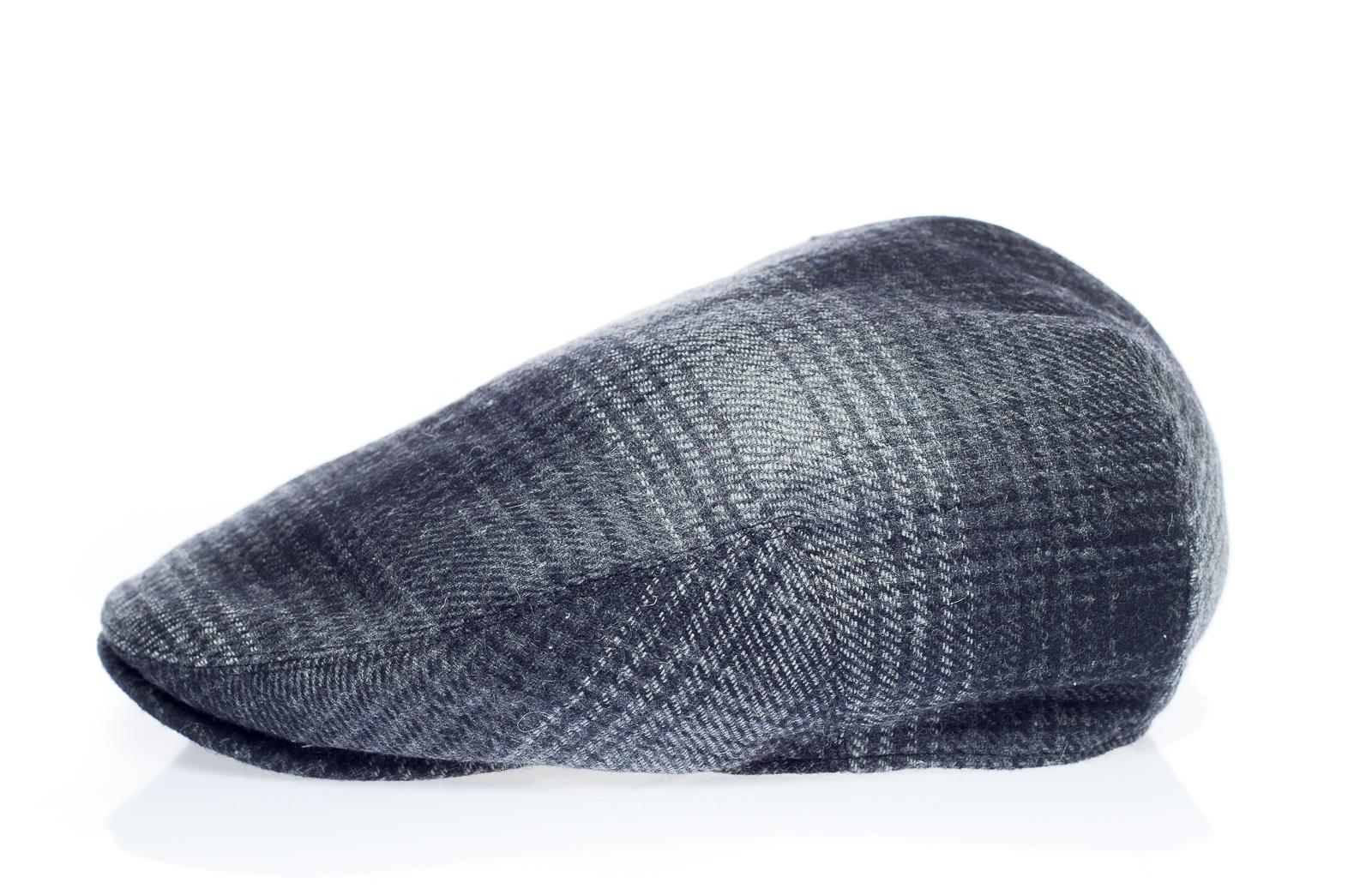 Newsboy Wool Blend Cap Paperboy Men Boy Gatsby Hipster Ivy Hat, Plaid Dark Grey