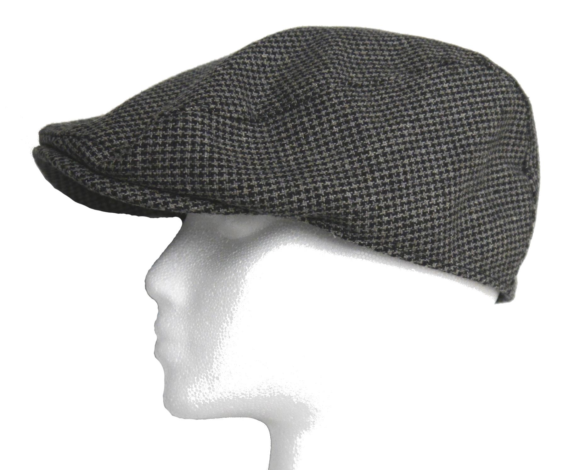 Newsboy Wool Blend Cap Paperboy Men Boy Gatsby Hipster Ivy Hat, Grey Patterned - Thumbnail 0