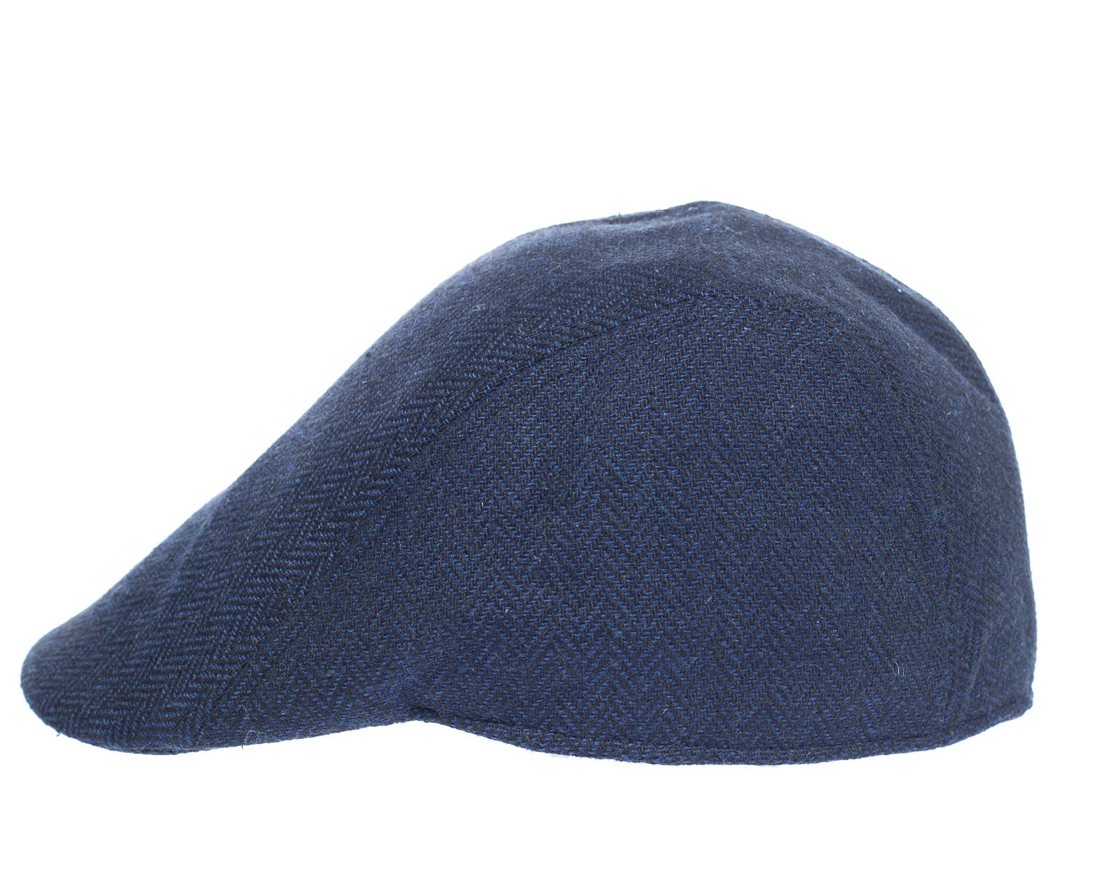 Newsboy Wool Blend Cap Paperboy Men Boy Gatsby Hipster Ivy Hat, Herringbone Blue