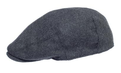 Newsboy Wool Blend Cap Paperboy Men Boy Gatsby Hipster Ivy Hat, Herringbone Grey