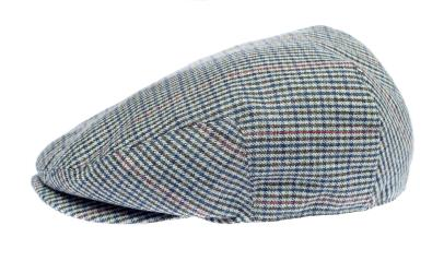 Newsboy Wool Blend Cap Paperboy Men Boy Gatsby Hipster Ivy Hat, Plaid Light Grey