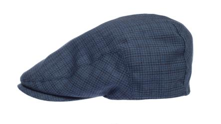 Newsboy Wool Blend Cap Paperboy Men Boy Gatsby Hipster Ivy Hat, Dark Blue Navy Checks - Thumbnail 0
