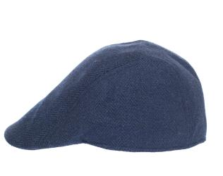 Newsboy Wool Blend Cap Paperboy Men Boy Gatsby Hipster Ivy Hat, Herringbone Blue - Thumbnail 0