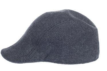 Newsboy Wool Blend Cap Paperboy Men Boy Gatsby Hipster Ivy Hat, Herringbone Dark Grey