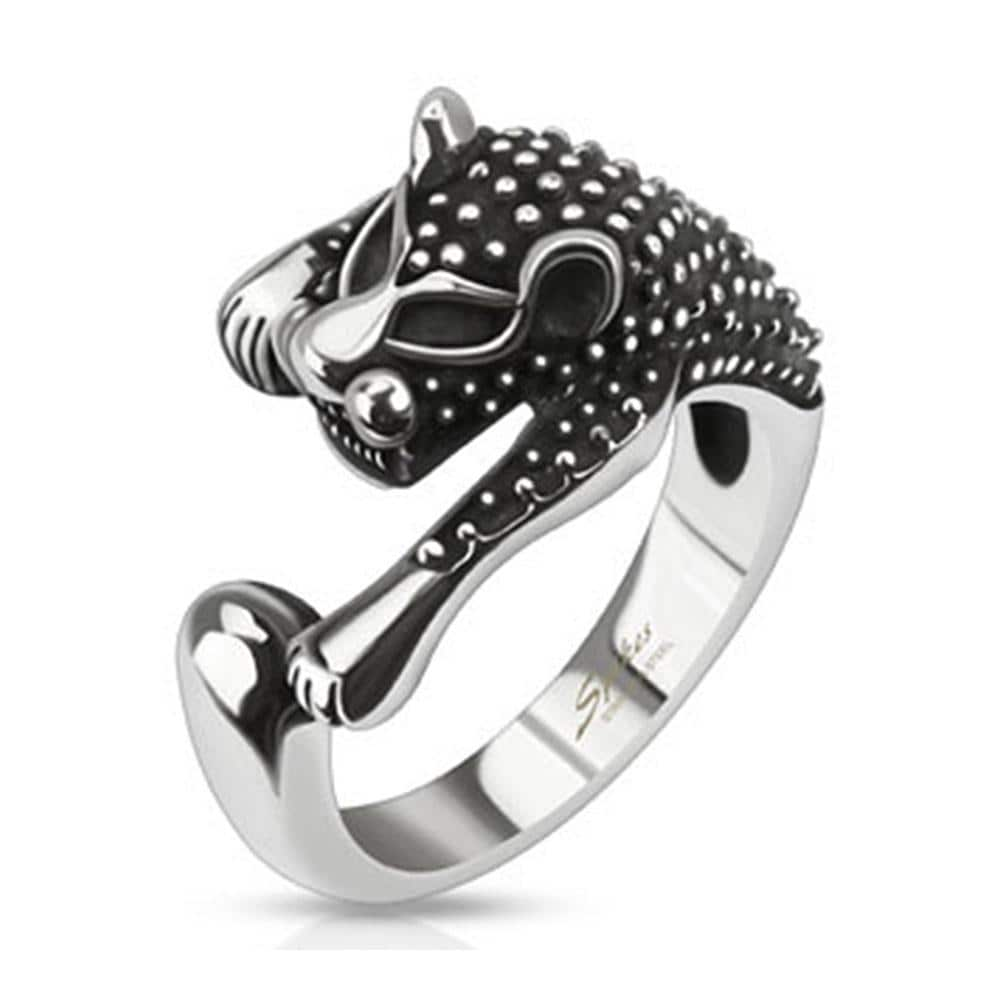 Ancient Feline Cast Stainless Steel Ring