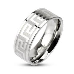 Stainless Steel Maze Pattern Ring - Thumbnail 0