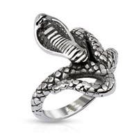 Coiled Cobra Cast Stainless Steel Ring
