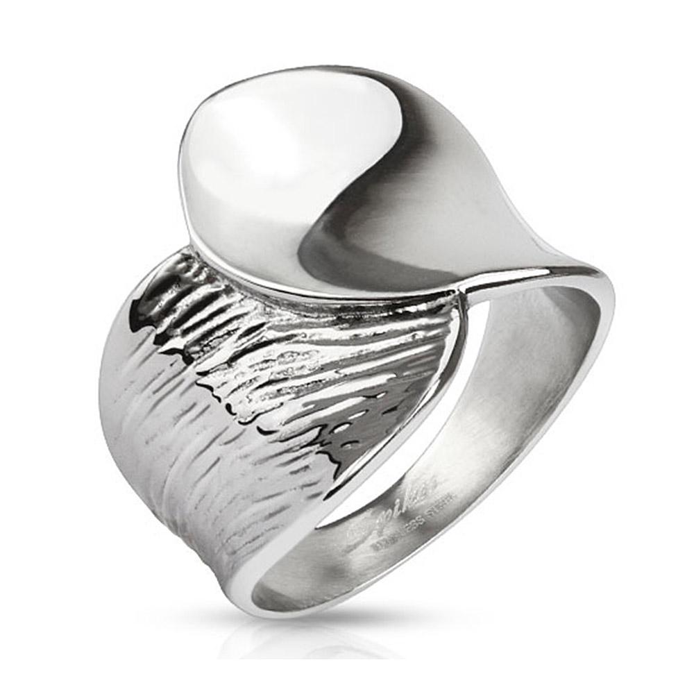 Cast Two Tone Stainless Steel Ring