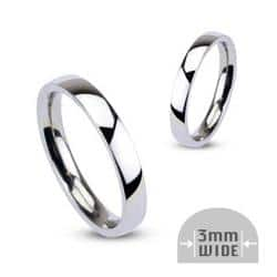 Stainless Steel 3mm Wide Glossy Mirror Polished Stackable Wedding Band Ring|https://ak1.ostkcdn.com/images/products/100/149/P18439945.jpg?impolicy=medium