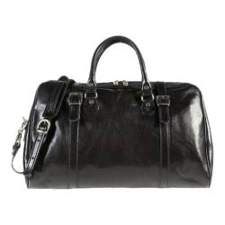Alberto Bellucci Milano Travel Leather Bag Black