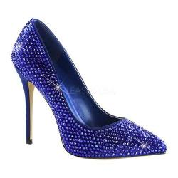 Women's Fabulicious Amuse 20RS Pump Blue Satin