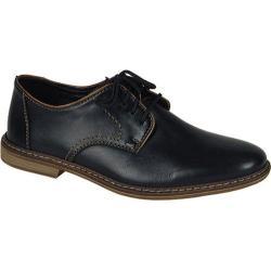 Men's Rieker-Antistress Diego 22 Plain-Toe Oxford Nero/Zimt/Schwarz Leather/Synthetic Combo