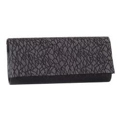 Women's J. Furmani 80683 Threads Flap Clutch Black