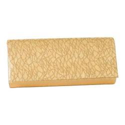 Women's J. Furmani 80683 Threads Flap Clutch Gold