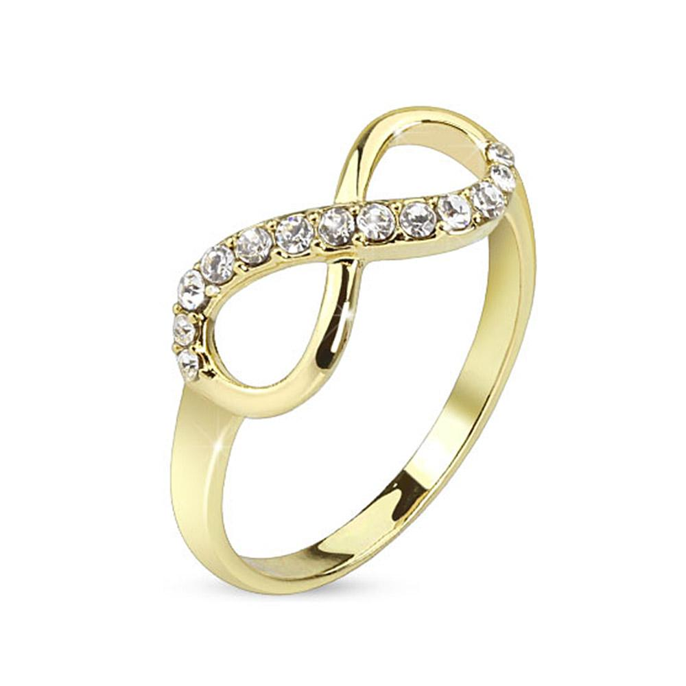 Infinite Pave Gemmed gold-plated Brass Ring