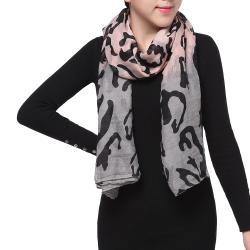 Spring Fashion Chiffon Scarf, Camo Pink Grey Black