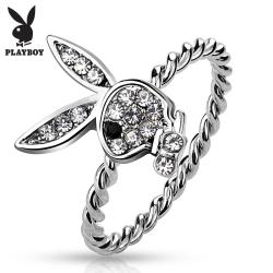 Gem Paved Playboy Bunny Rope Ring - Thumbnail 0