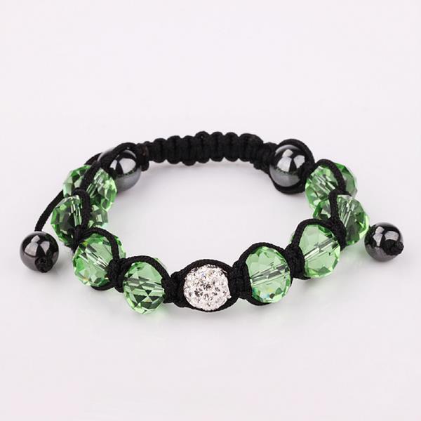 Vienna Jewelry Hand Made Swarovksi Elements Bracelet & Gemstone Beads-Light Emerald