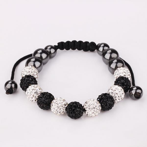 Vienna Jewelry Ivory & Onyx Stone Hand Made Bracelet