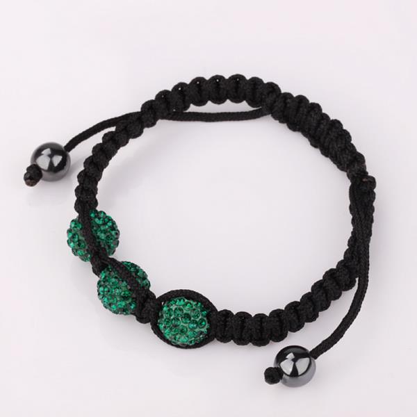 Vienna Jewelry Pave Swarovksi Elements Style Bracelet- Royal Emerald