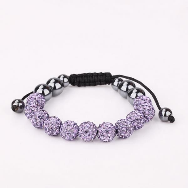 Vienna Jewelry Hand Made Eleven Stone Swarovksi Elements Bracelet- Vibrant Lavender