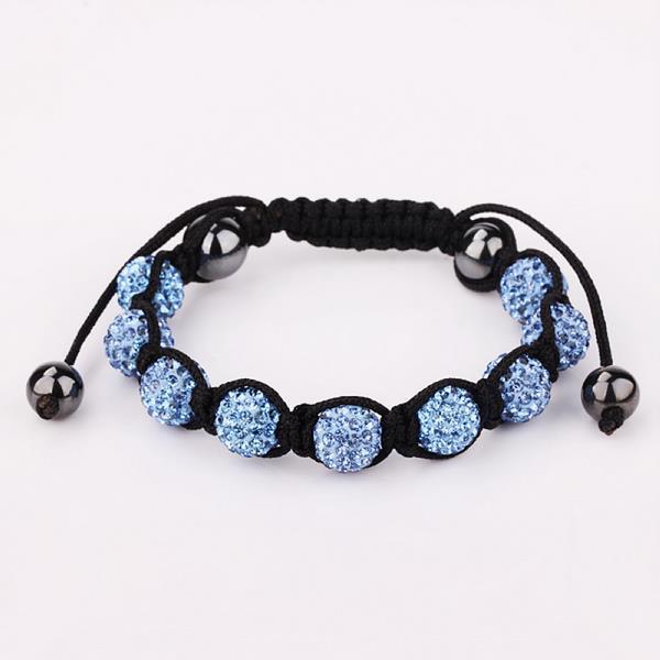 Vienna Jewelry Hand Made Eight Stone Swarovksi Elements Bracelet- Vibrant Saphire