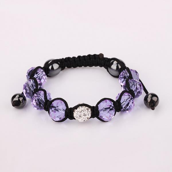 Vienna Jewelry Hand Made Swarovksi Elements Bracelet & Gemstone Beads-Light Lavender