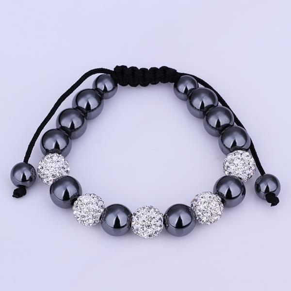 Vienna Jewelry Hand Made Bracelet Stone and Ivory Crystal