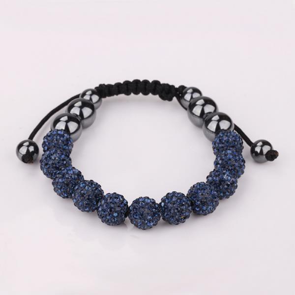 Vienna Jewelry Hand Made Eleven Stone Swarovksi Elements Bracelet- Vivid Dark Saphire