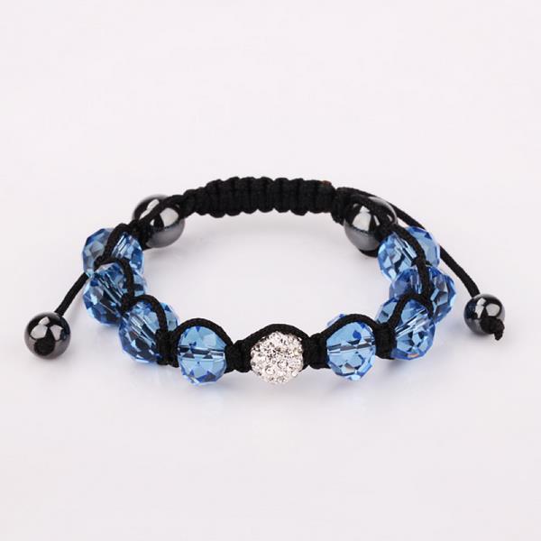 Vienna Jewelry Hand Made Swarovksi Elements Bracelet & Gemstone Beads-Dark Saphire