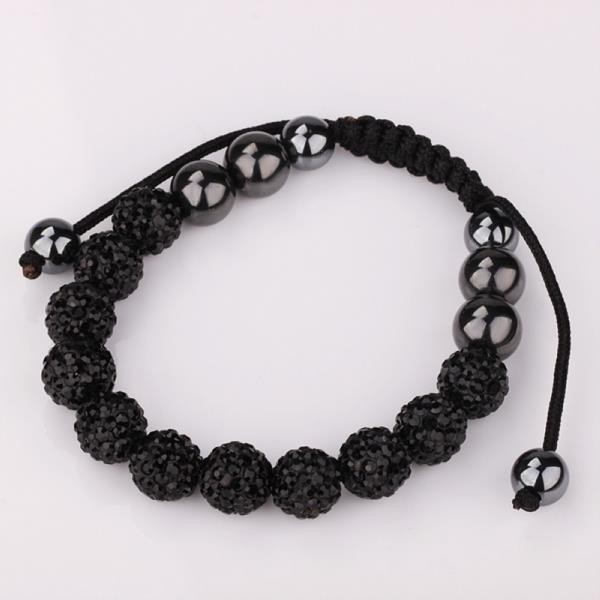 Vienna Jewelry Hand Made Eleven Stone Swarovksi Elements Bracelet- Vibrant Onyx