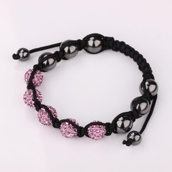 Vienna Jewelry Hand Made Five Stone Swarovksi Elements Bracelet-Dark Coral