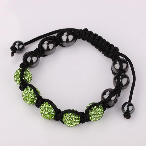 Vienna Jewelry Hand Made Five Stone Swarovksi Elements Bracelet-Light Emerald