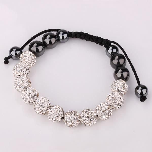 Vienna Jewelry Hand Made Eleven Stone Swarovksi Elements Bracelet- Vibrant Crystal