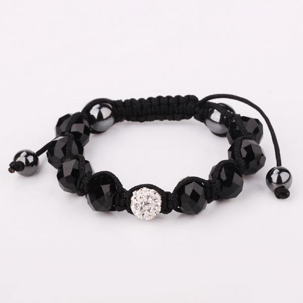 Vienna Jewelry Hand Made Swarovksi Elements Bracelet & Gemstone Beads-Onyx