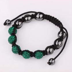 Vienna Jewelry Hand Made Five Stone Swarovksi Elements Bracelet-Royal Emerald - Thumbnail 0