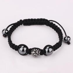 Vienna Jewelry Hand Made Swarovksi Elements Bracelet- Light Onyx