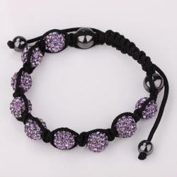 Vienna Jewelry Hand Made Eight Stone Swarovksi Elements Bracelet- Bright Lavender