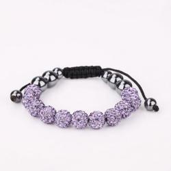 Vienna Jewelry Hand Made Eleven Stone Swarovksi Elements Bracelet- Vibrant Lavender - Thumbnail 0