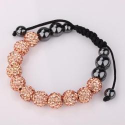 Vienna Jewelry Hand Made Eleven Stone Swarovksi Elements Bracelet- Vivid Light Orange Citrine - Thumbnail 0