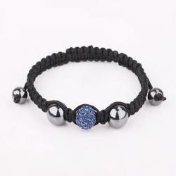 Vienna Jewelry Hand Made Swarovksi Elements Bracelet- Light Saphire