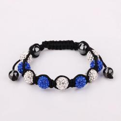 Vienna Jewelry Hand Made Swarovksi Elements Bracelet & Crystal Beads-Dark Saphire