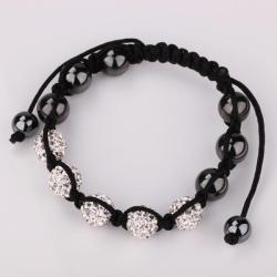 Vienna Jewelry Hand Made Five Stone Swarovksi Elements Bracelet-Bright Crystal - Thumbnail 0