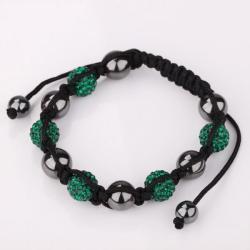 Vienna Jewelry Hand Made Swarovksi Elements Bracelet & Crystal Beads-Light Emeral - Thumbnail 0